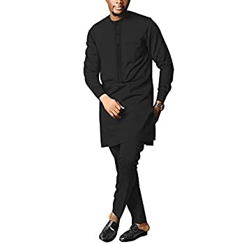 NC African Men s Clothing Two Pieces Suit Casual Long Sleeve Dashiki Coat and Pants Tribal Outfits Tracksuit 6 XL