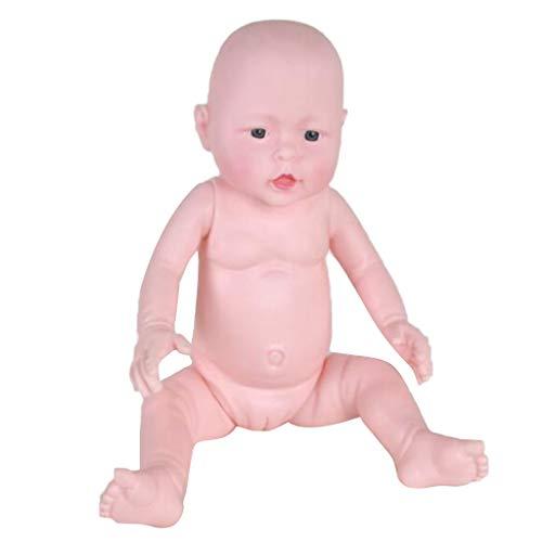 Lebensecht Reborn Baby Puppe Künstlerpuppe Rebornpuppe Spielzeug für Babyproduktanzeige Krankenpflegetraining, 49cm - Mädchen