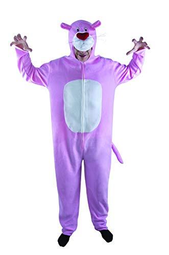 P'tit Clown 10228 - Costume da Adulto, in Peluche, Taglia Unica, Colore: Rosa