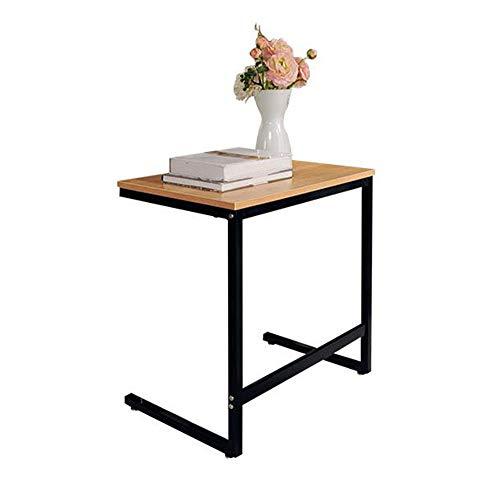 Tables FEI - Bureau d'ordinateur de Bout de canapé à café à Montants Multiples de Type C avec Cadre en Fer forgé pour Tous Les postes de Travail (Couleur : A)