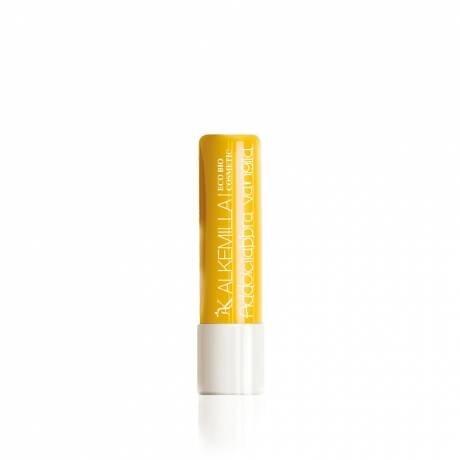 ALKEMILLA - Addolcilabbra Vanille - Beurre hydratant pour les lèvres - Certifié Bio - Avec Huile de Noisettes,de Tournesol et de Ricin - Apaisant et Hydratant - Produit en Italie - 5 ml