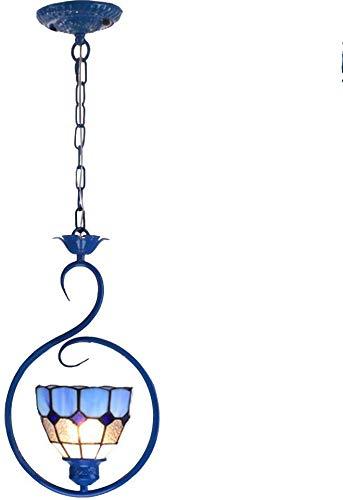 Hanglamp lamp mediterranse stijl glas hand druppels gevoelig decoratief patroon unieke open haard design balkon slaapkamer glas, ijzer, metaal plafondlamp