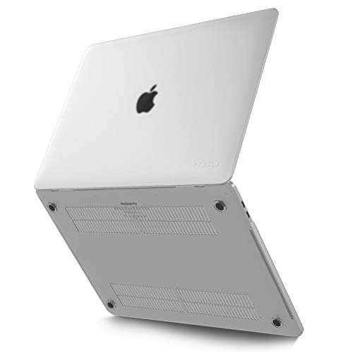 Kuzy MacBook Pro 13 inch Case 2019 2018 2017 2016 Release A2159 A1989 A1706 A1708, Non-Slip, Fully Vented Heat Disbursement Plastic Hard Shell MacBook Pro Case with Touch Bar Soft, Clear