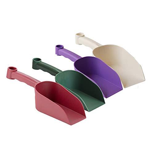 AK-XING 4 Kunststoff-Garten-Handschaufeln, Mini-Handschaufel, Kunststoff, selbstgewachsen, Gartenwerkzeug, kleine Blumentopfschaufel, Schaufel, Kunststoff, Garten-Handschaufel für kleine Bodenschaufel