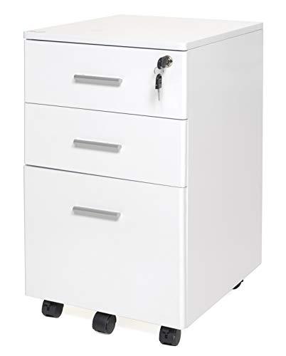 My_office Chest Cassettiera, PVC, Bianco, 40x50x61 cm