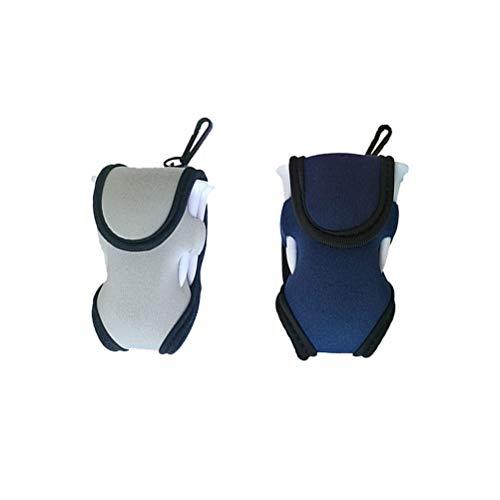 2 Stück Praktische Minigolf-Tasche Tragbare Balltasche Golfballhalter Golfzubehör für Männer Frauen (zufällige Farbe)