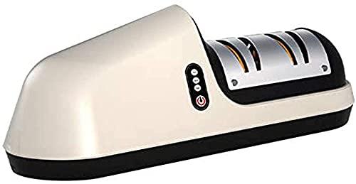 TCHENG Electric Knife Sharpener, Professional Kitchen Sharperener Wireless, Rechargeable, Ergonomic Design