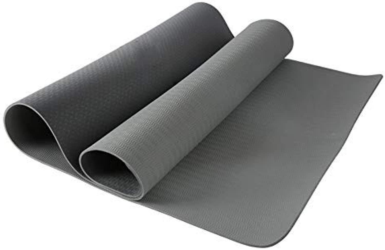 8bayfa Yoga-Matte for männer und Frauen weiteten Sich und verdickte Sports Fitness Mat Sit-ups Ausbildung geeignet for Zuhause oder das Fitnessstudio.1202 (Farbe   grau, Größe   8mm)