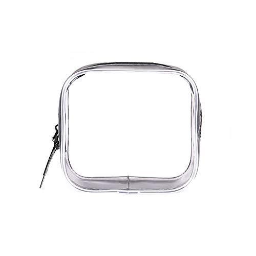 Hirkase transparante toilettas, waszakje, transparant, cosmeticazakje, voor koffer in handbagage, make-up cosmetische reistas waterdicht doorzichtig (S -11 * 4.5 * 10.5)