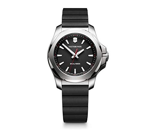 [ビクトリノックス] 腕時計 I.N.O.X. V ステンレススチールケース(316L/鍛造) ブラックダイヤル ブラックラバーストラップ 241768 レディース 正規輸入品 ブラック