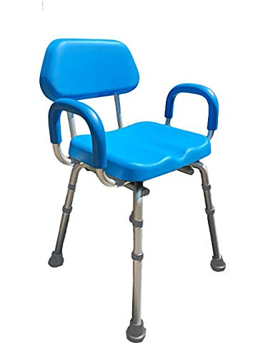 Shower Chair, Bath Chair, Padded with Armrests, Comfortable(tm) Deluxe Shower Chair. Institutional Quality.