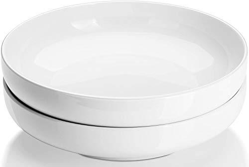 DOWAN Pasta Bowls, 25cm Large Porcelain Serving Bowls- 2 Packs Salad Bowl...