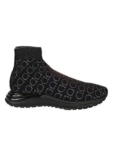 SALVATORE FERRAGAMO Luxury Fashion Damen 035523 Schwarz Stoff Slip On Sneakers | Herbst Winter 19