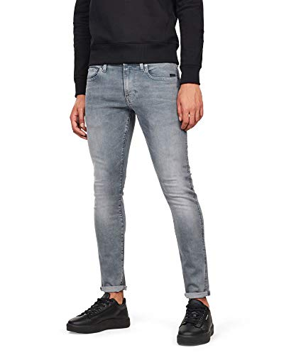 G-STAR RAW Revend Skinny Jeans' Vaqueros, Faded Industrial Grey, 31W / 30L para Hombre