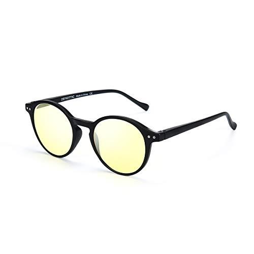 Zenottic Gafa para conducción noctura, Gafas de sol polarizadas y de visión nocturna Gafas de sol antirreflejo Día lluvioso Nublado Conducción segura Gafas de visión HD Gafas para exteriores para homb