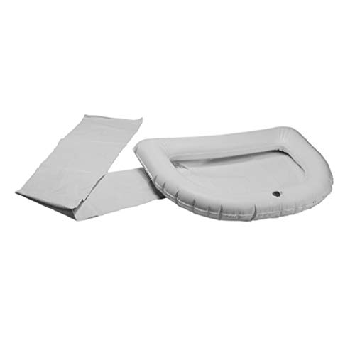 Ableware 764301250 Inflatable Crescent Shaped Shampoo Tray, White