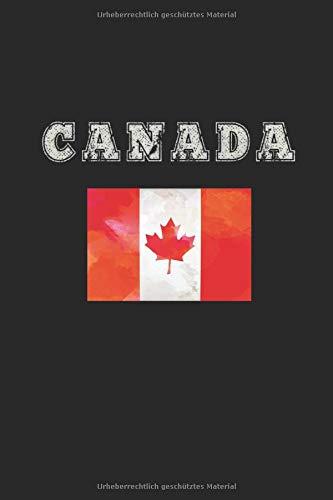 Kanada Notizbuch: Kanada Notizbuch Tagebuch Planer Notizblock 100 linierte Seiten 6x9 Zoll (ca. DIN A5)