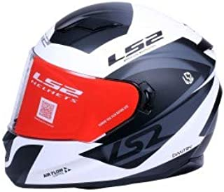 LS2 Helmets - Stream Evo - Damitry - Matt White Black - Dual Visor Full Face Helmet - (Medium - 570 MM)
