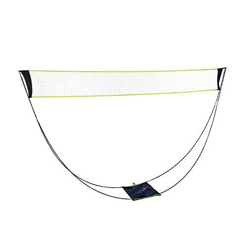 Tragbares Badmintonnetz, faltbar, mit Aufbewahrungstaschen-Halter, 3 m, tragbares Netz-Set für Outdoor, Familie, Strand und andere Heimunterhaltung.