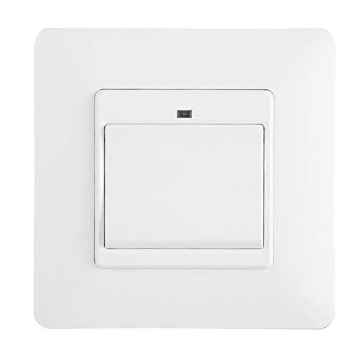 Interruptor de pared con control remoto para teléfono WiFi de 100-240 V, interruptor inteligente de material ignífugo para PC, para Alexa/Google Home/IFTTT EU Plug(1 key)