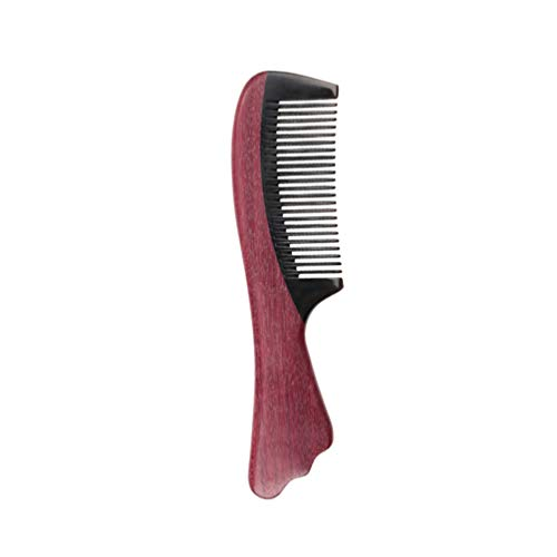 Minkissy haarkamm friseurwerkzeug naturholz kamm kopfmassage kamm mit zähnen antistatischer kamm violett und Horn haarkamm für Frauen friseurmädchen