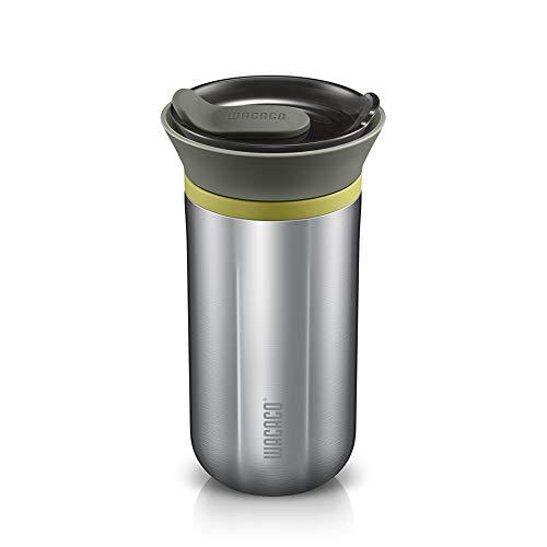 WACACO Cuppamoka Filterkaffeemaschine, Tragbare Kaffeemaschine mit Thermoskanne, Kleine Filtermaschine mit 10 Kegelpapierfiltern, Manuell Betrieben, Kaffeefiltermaschine aus Edelstahl, 10 fl oz