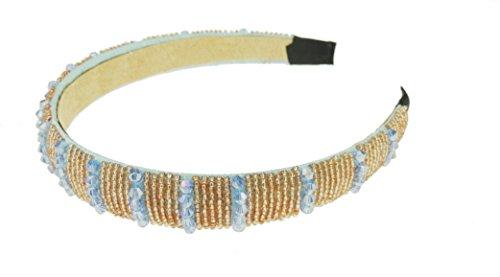 2 cm breed, fonkelende parelhaarband met strass-steentjes.