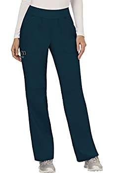 Cherokee Women s Mid Rise Straight Leg Pull-on Pant Caribbean Blue XXX-Large
