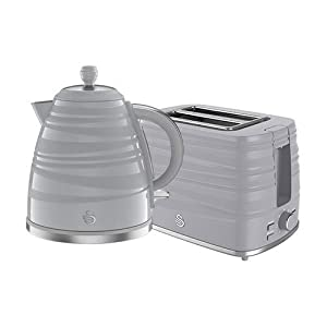 Swan Grey 1.7l Jug Kettle & 2 Slice Toaster