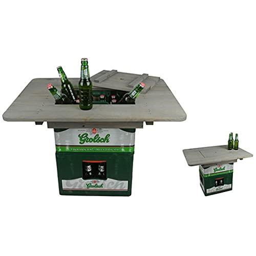 Mesa de bistró al Aire Libre, Mesa de Patio Mesa de cóctel al Aire Libre Mesa de Bar de jardín Mesa de cajón de Cerveza NG76