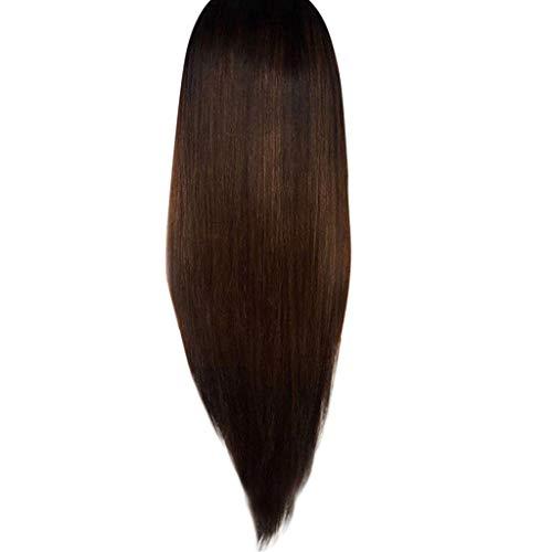 Perruques à Frange Bresiliennes Femmes Cheveux Naturels Sexy Charmant Mode Pas Cher Long Marron Postiches SynthéTique (Marron)