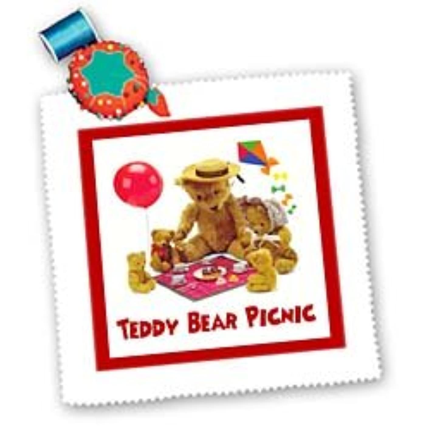 Susan Brown Designs Teddy Bear Picnic Square Quilt Sheet, 10 by 10-Inch