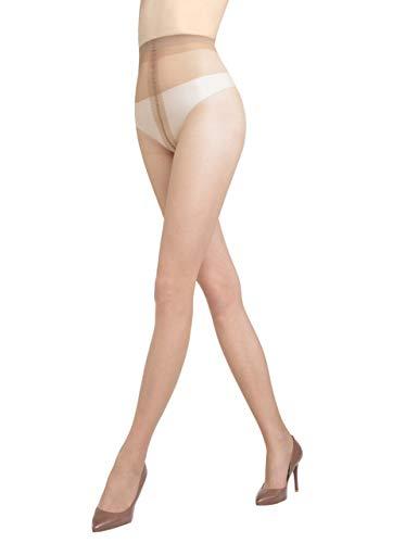 Gatta Eve 8den - elegante dünne transparente Seiden-Feinstrumpfhose - Größe 2-S - Lyon-dunkelbraun