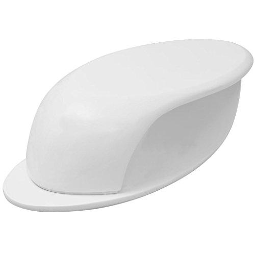 vidaXL Hochglanz Couchtisch Wohnzimmertisch Beistelltisch Fiberglas Weiß