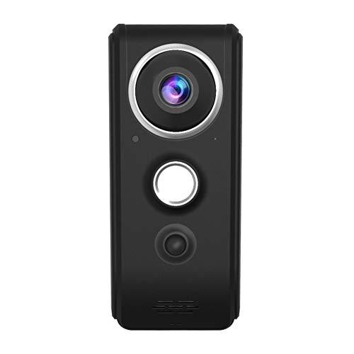 DDELLK Draadloze smart wifi-video-deurbel, batterij, lage stroom, 720P HD, tweewegs-gesprek, ruisonderdrukking, nachtzicht, app-afstandsbediening, veilig voor thuis