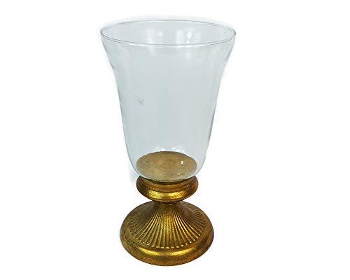 Zelda Bonbonnière présentoir en Verre Base Or Diamètre 14,5 cm Hauteur 27,5 cm Décoration Baroque Wedding