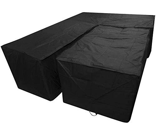 Sorara Housse de protection pour canapé d/'anglegris235 x 235 x 100 cmEau