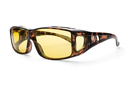 Clearsight Night Driving Glasses for Women and Men - Anti Glare Polarized Lenses - Fit Over Regular Glasses