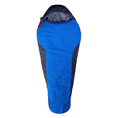 Sac de couchage Momie Splicing 0~10 ℃ Warm et de Confortables Robes Couchage imperméable et Respirante Douce Vinaigrette est idéal for la randonnée, Sac à Dos de Camping, Bleu, 220 * 85cm, Taille No