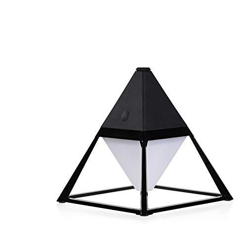 Yang1mn Pyramid Práctico Touch Switch Lámparas de pie Impermeable Protección ocular USB Lámpara de noche Lámpara de pie (Color : Black)