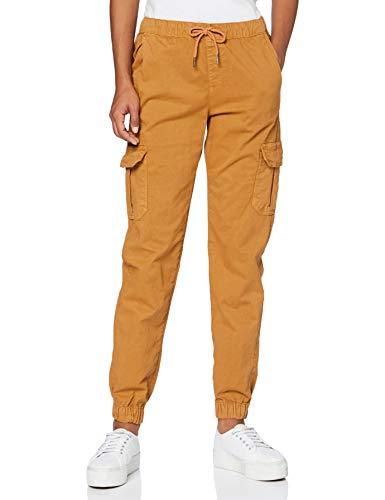 Urban Classics Damen Ladies High Waist Cargo Jogging Pants Hose, Toffee, L