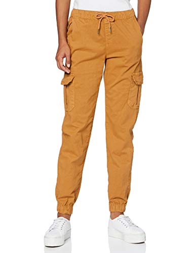 Urban Classics Damen Ladies High Waist Cargo Jogging Pants Hose, Toffee, M