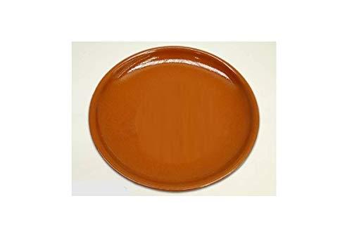 Cok CT7Piatti per Pizza, Ceramica, Marrone, 30x 32x 30cm