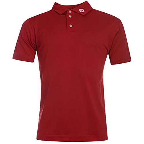 Footjoy Solid - Polo de golf de manga corta para hombre rojo M
