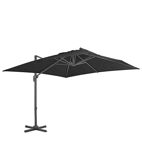 XNJJ Umbrella Cover, Terrasse Regenschirm 300 * 300 cm Wasserdicht Offset Cantilever-Jacke mit Reißverschluss Außenterrasse und Markt Sonnenschirm 9.8