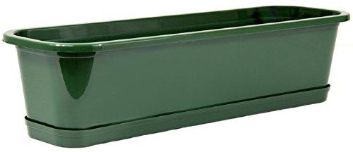 Wamat Blumenkasten + Untersetzer Blumentopf Balkonkasten 4 Größen 8 Farben Neu ! (80 cm, grün)
