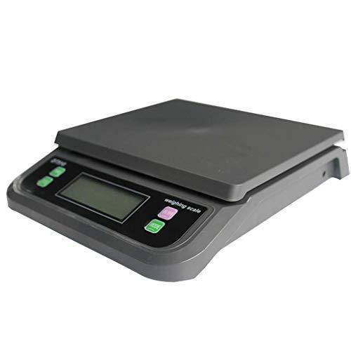 Elektronische Multifunktions-Paketwaage, 30 kg Schmuckwaage mit hintergrundbeleuchteter digitaler LCD-Küchenwaage Gepäckwaage (schwarz, 25 kg * 1 g) Stilvolle, ultraflache Designwaage für Lebensmitte