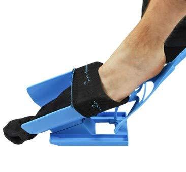 UPP Anziehhilfe für Socken und Kompressionsstrümpfe 3-in-1 I Hilfsmittel für Senioren & Behinderte: Sockenanziehhilfe/-ausziehhilfe, Schuhlöffel I Mobilitätshilfe Macht den Alltag Leichter