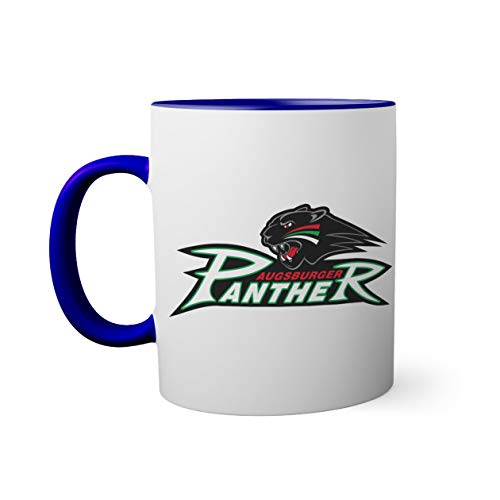 Ice Hockey Team Augsburger Panther Eishockey Tasse innen und am Henkel dunkelblau außen weißS Mug| Lustige Neuheitstassen für Kaffee und Tee 330ml