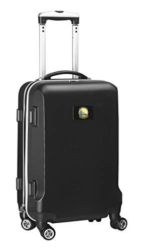 Denco NBA Golden State Warriors Carry-On Hardcase Luggage Spinner, Black